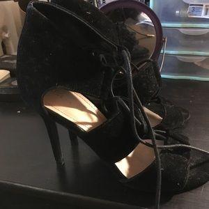 Shoe Republic LA Felt Heels